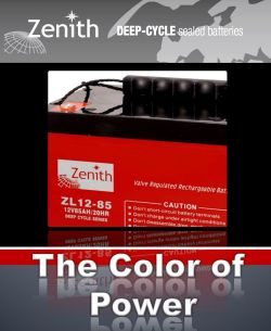 Znith The color of Power AGM batterijen e-motion
